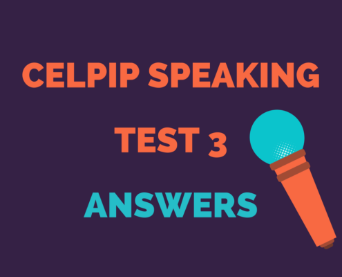 CELPIP SPEAKING