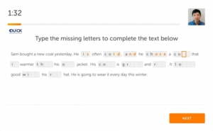 پر کردن حروف گمشده